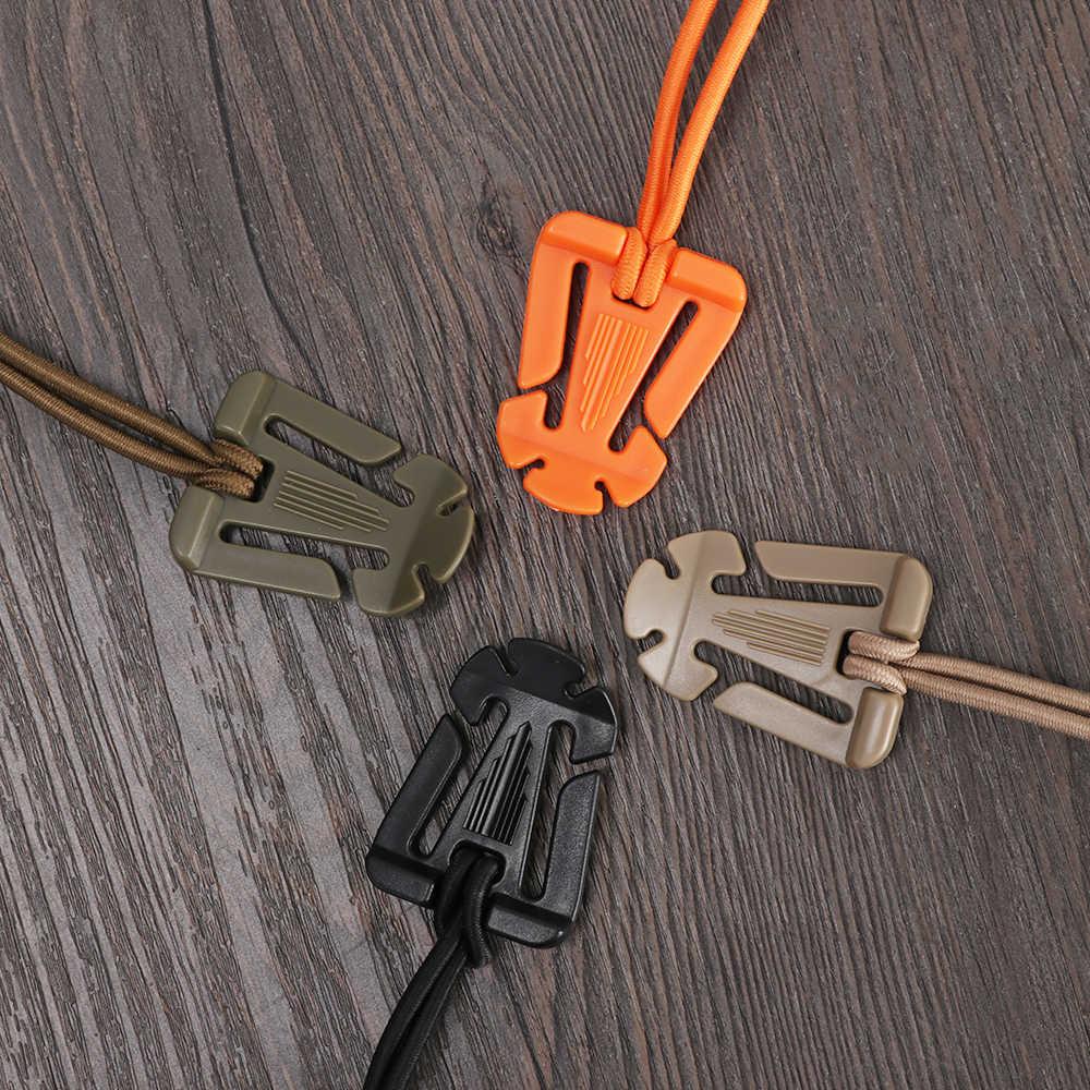 2 pièces réutilisable Molle boucle sac à dos mousqueton organiser Clip crochets fixes Mini outils sac accessoires cordon élastique poids léger