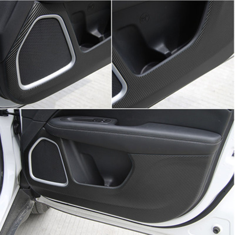 lsrtw2017 carbon fiber PVC car door anti-kick sticker film for <font><b>jeep</b></font> <font><b>compass</b></font> 2016 2017 2018 <font><b>2019</b></font> image