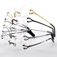 Harry Potter High Quality Luxury Pure Titanium 49mm Rimless Round Vintage Eyeglass Frame Spectacles Rx G280439