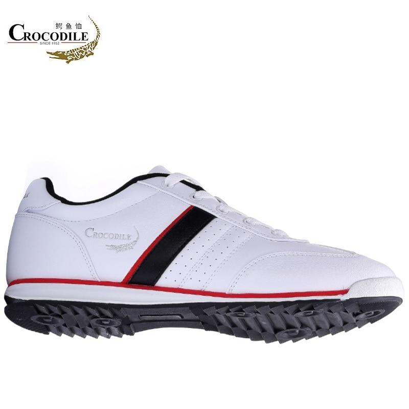 Crocodile Hommes Sneaker Chaussures de Sport de Chaussures de Course pour Hommes En Cuir Chaussures Zapatilla Mâle Stable Jogging Sport Chaussures Blanc cassé