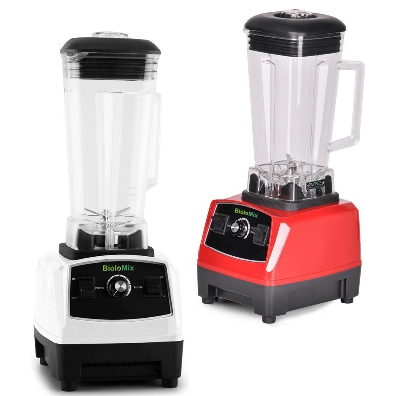 BPA Free 3HP 2200W Heavy Duty Commercial Grade Blender Mixer Juicer High Power Food Processor Ice Smoothie Bar Fruit Blender eu uk au plug 3hp bpa free commercial grade home professional smoothies power blender food mixer juicer food fruit processor