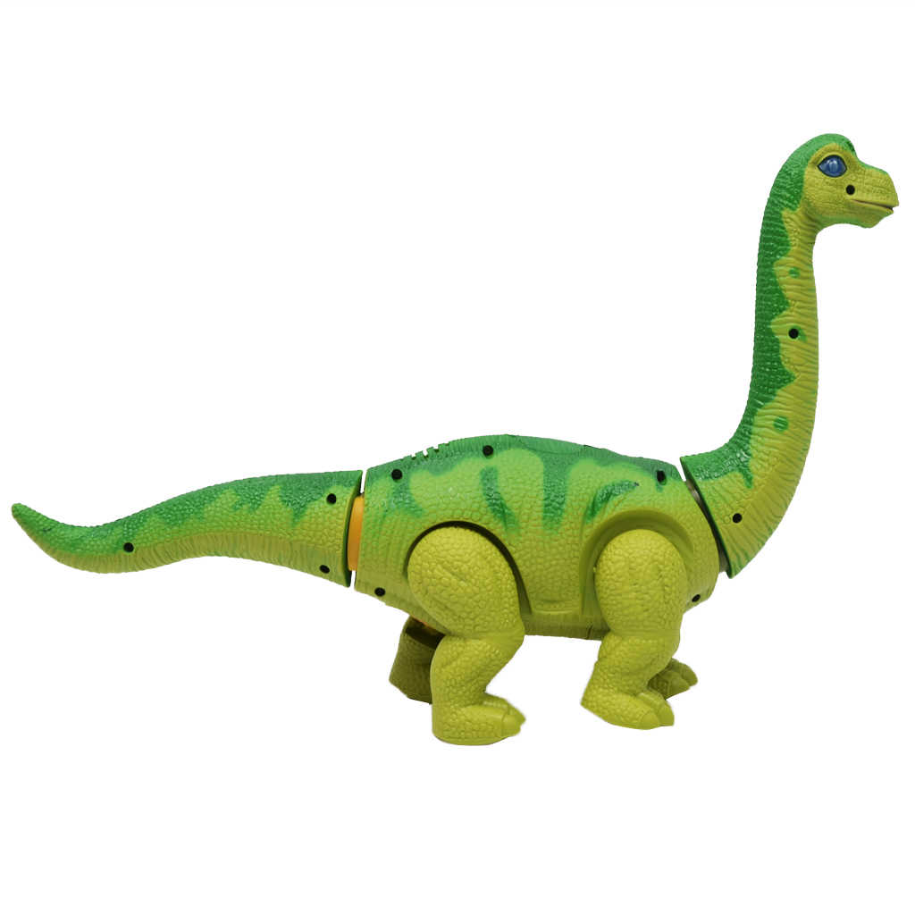 Bateria Operado Andando Postura de Ovos de Dinossauro Brachiosaurus Brinquedo Figura de Ação Brinquedos para As Crianças Natal Presente de Aniversário Verde