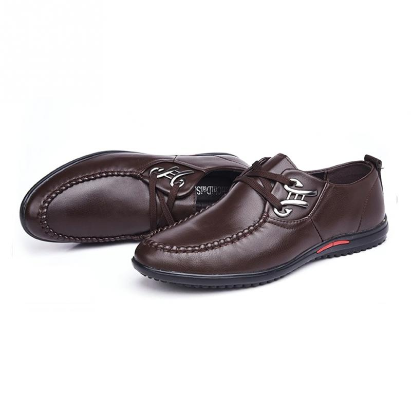Alta Hombres Nuevo Masculina 104 Juego Negocio Del Moda Suave Tamaño Conducción azul Calidad Negro brown De Casual Más Cuero Zapatos 8Rv8Sa