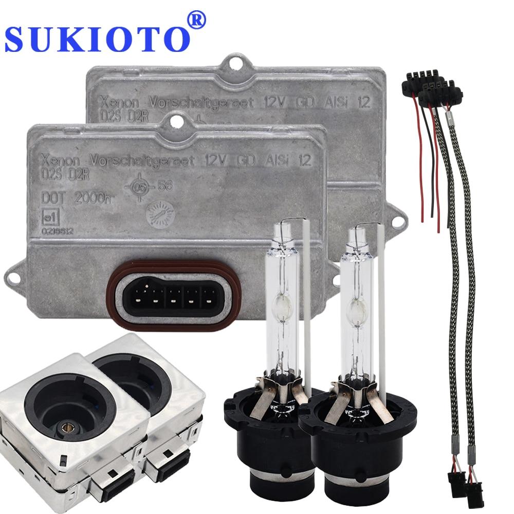 SUKIOTO Original D2S Ballast 4E0907476 5DV008290-00 Control Unit 55W D2S D2R ballast Headlight Kit 4300K-8000K xenon D2S GD ALSi переходник под d2s