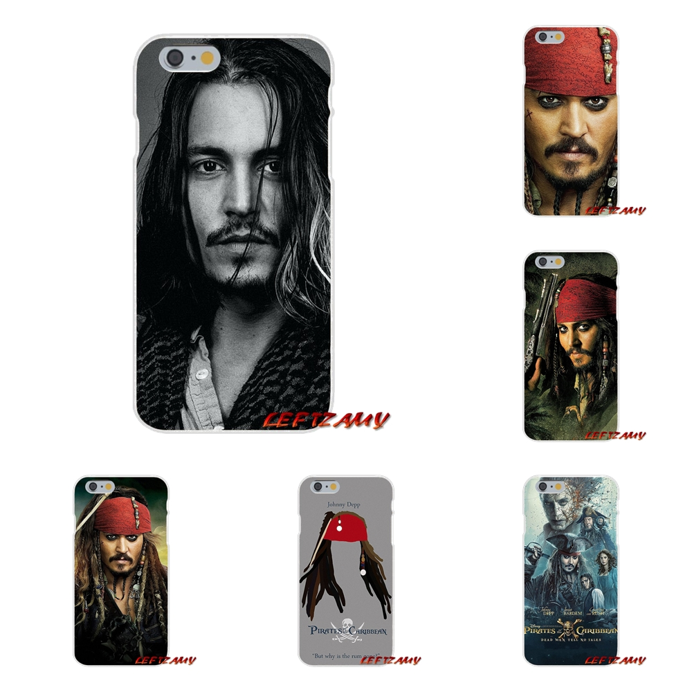 For iPhone X 4 4S 5 5S 5C SE 6 6S 7 8 Plus johnny depp Pirates of the Caribbean Accessories Phone Cases Covers