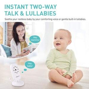 Image 2 - הכי חדש תינוק צג, 3.5 אינץ LCD מסך תצוגת תינוקות ראיית לילה מצלמה, שתי דרך אודיו, טמפרטורת חיישן, מצב ECO, שירי ערש