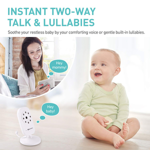 Image 2 - Newest Baby Monitor,3.5 inch LCD Screen Display Infant Night Vision Camera,Two Way Audio,Temperature Sensor,ECO Mode,Lullabies