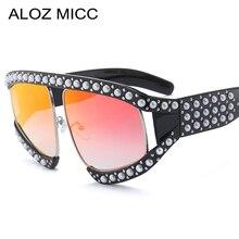 Newest Italy Luxury Oversized Pearl Sunglasses Women Brand Designer Pilot Crystal Frame Glasses Female Goggle Eyewear  Q379