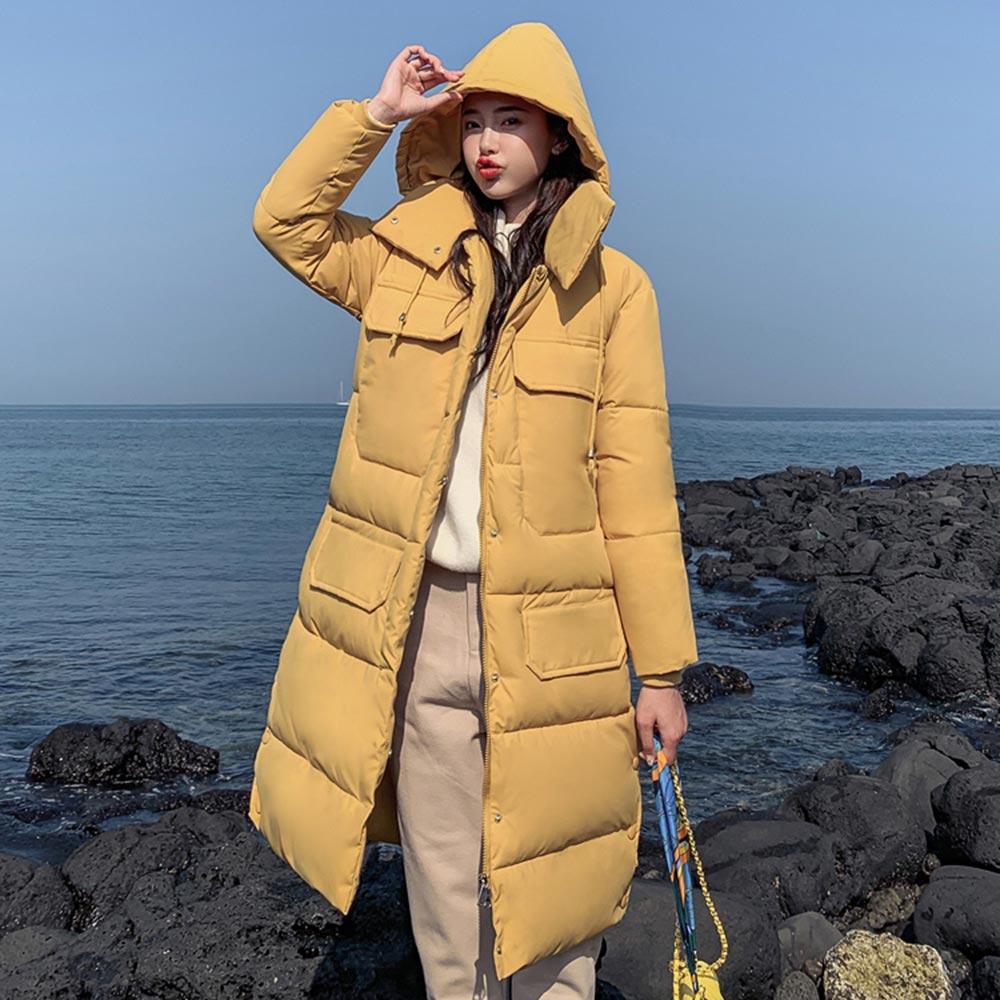 2019 Winter Jacket Women Autumn Winter Snow Wear Hooded   Parkas   Winter Jackets Outwear Women Long Coats korean coat
