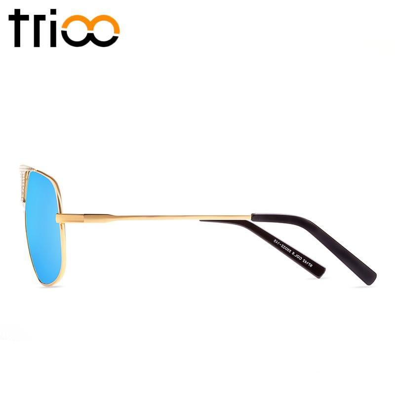 TRIOO Gold Rahmen Coole Männer Sonnenbrille Hohe Qualität Metall ...