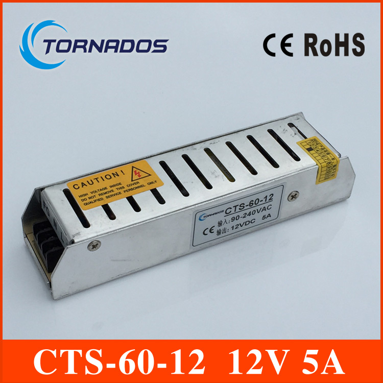 CTS Switching Power Supply Small Volume Single 12v Output AC100-240V to DC12V 5A 60W Power Led Driver for Led Strips CTS-60-12 single output switching led power supply 12v 8 5a 100w ac100 240v to dc12v led driver adapter for led strips light cnc cctv
