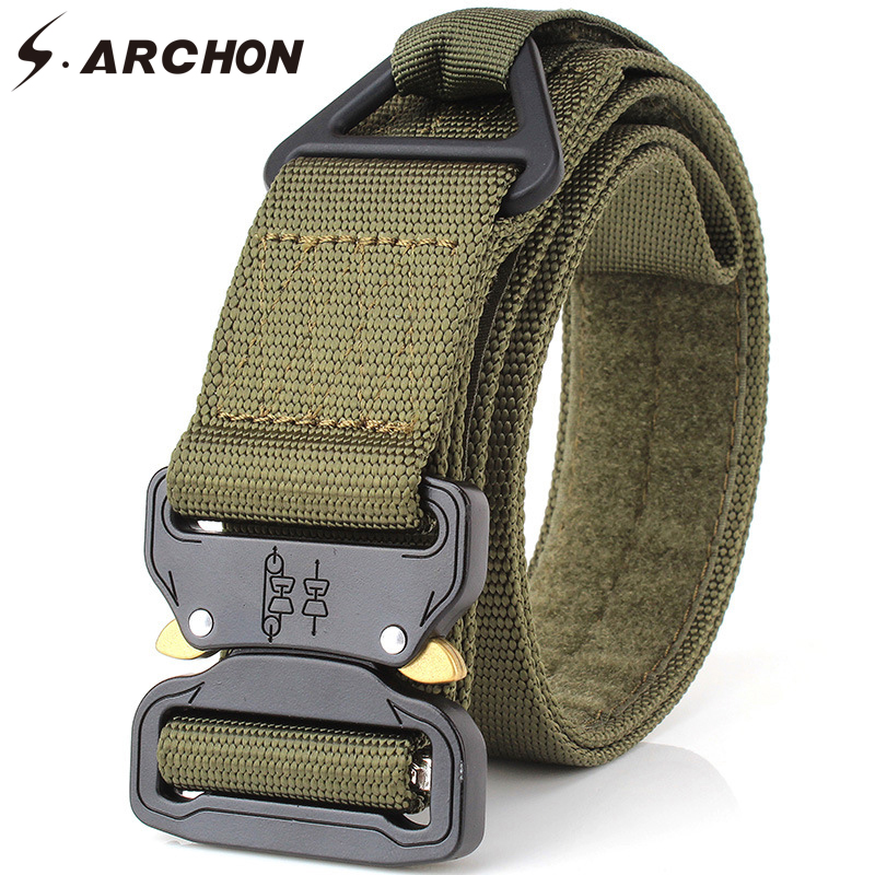 Cooperative Army Military Style Combat Belt Desert Camouflage Army Green Quick Release Men Canvas Waistband Outdoor Hunting Accessories Belt Apparel Accessories