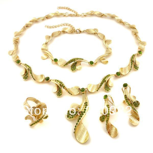 2014 22k gold plated jewelry set Pakistani bridal dubai gold jewelry