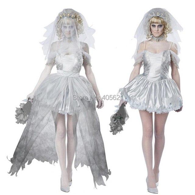 Evil Cemetery Ghost Groom Corpse Bride Horror Wedding Dress Zombie Up Cosplay