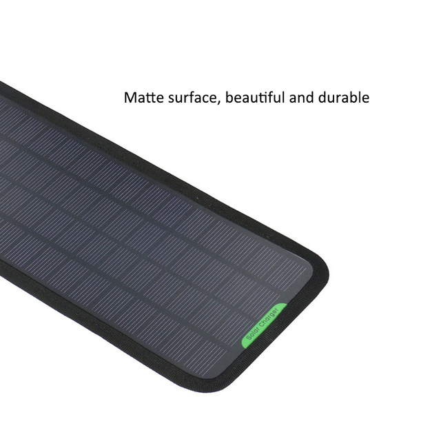 High quality 12V 5W Monocrystalline Solar Panel Car Automobile Boat Portable Solar Cells Rechargeable Power Battery Charger