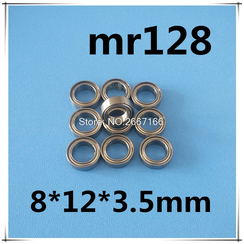 40pcs MR128 MR128Z MR128ZZ Miniature Bearings Mini Ball Bearing 8 X 12 X 3.5mm radial shaft free shipping 20pcs mr83zz miniature bearings ball bearing 3x8x3 mm 3 8 3 mr83 zz radial shaft