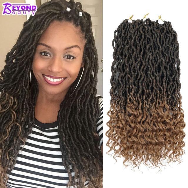 Crochet Goddess Locs Hair Extensions Faux Locs Curly Crochet Braids