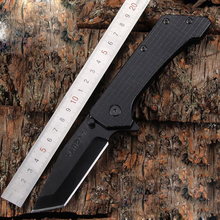 Weight 302g Camping Tactical Pocket Knife Two Edges Survival Knives Hunting Folding Knife Two Colors Outdoors EDC Tools