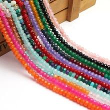 Perles de Rondelle en cristal naturel 4mm perles en vrac pour la fabrication de bijoux 15 pouces perles de cristal tchèque à facettes bijoux à bricoler soi-même