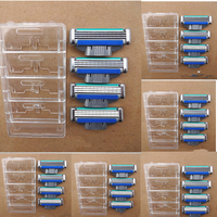 24 Pcs Men S Face Shaving Razor High Quality Blades Beard Shaver Blade 3Layers Replacement For