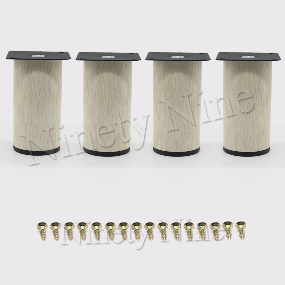 4Pcs 64*100mm Wood grain Metal Cabinet Furniture Legs Stainless Steel Cabinet Feet Kitchen Feet Round4Pcs 64*100mm Wood grain Metal Cabinet Furniture Legs Stainless Steel Cabinet Feet Kitchen Feet Round