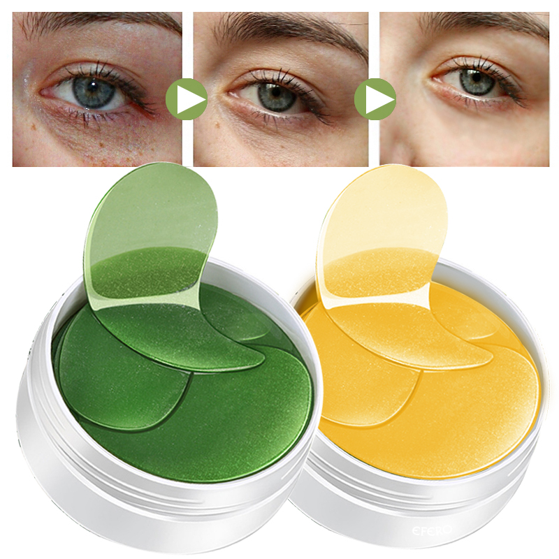 60Pcs Golden Collagen Eye Mask Gel Patches Anti-wrinkle Eyes Bags Remover Dark Circles Eye Masks Women Skin Care Eye Patches