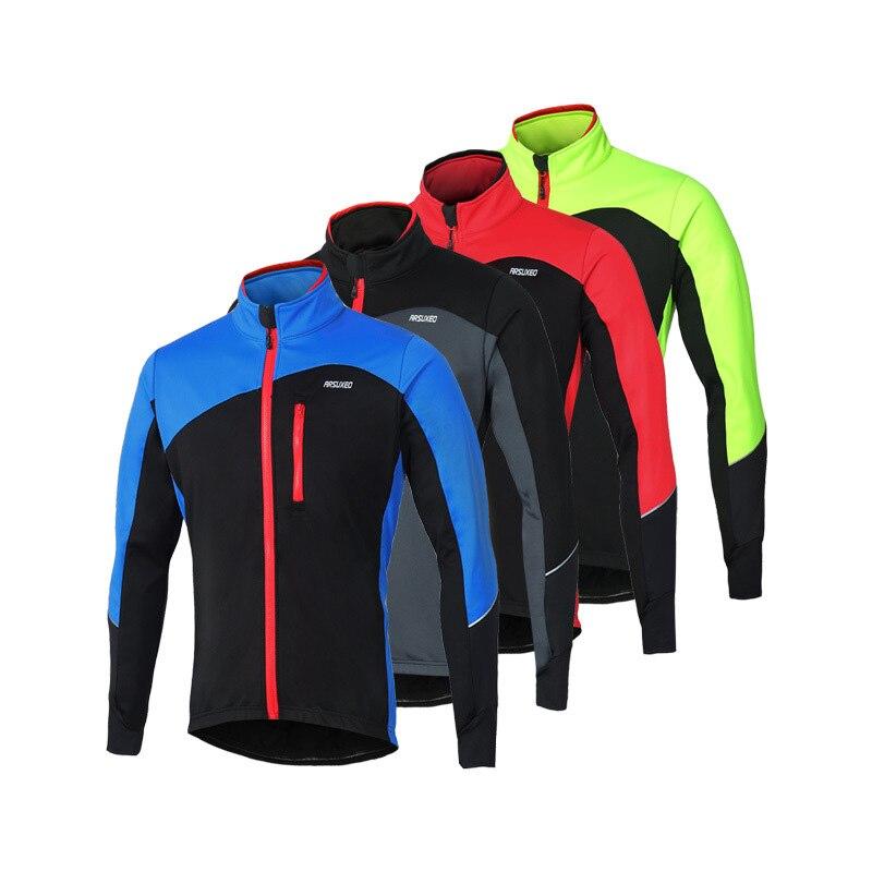 ARSUXEO רכיבה תרמית מעילי חורף להתחמם Windproof עמיד למים אופניים מעיל חיצוני וטיולים קמפינג ריצה ספורט הלבשה עליונה