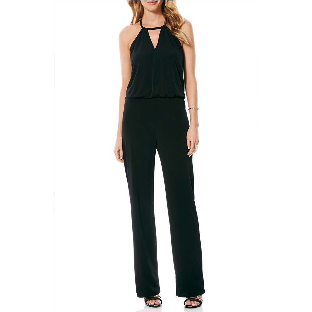 2019 Summer Clothes For Women   Jumpsuits   Elegant Sleeveless Rompers Womens   Jumpsuit   Long Pants Simple Black/Blue   Jumpsuit   Mujer
