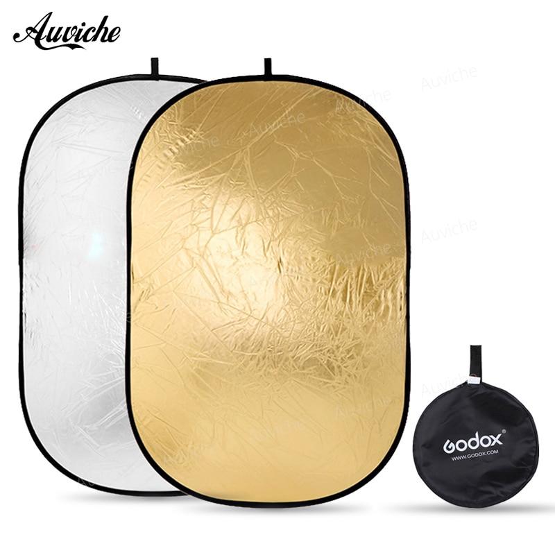 Godox 2 in 1 150x200cm Portable Oval Multi-Disc Reflector Collapsible Photography Studio Photo Camera Light Diffuser/Reflector qzsd 80cm portable photography reflector studio accessory