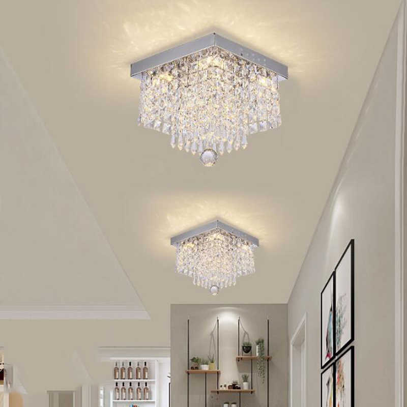 Fashion Square Kristal Lampu Gantung LED Lampu LED Lampu Gantung Restoran Lorong Daya Tinggi Lampu Gantung LED Light
