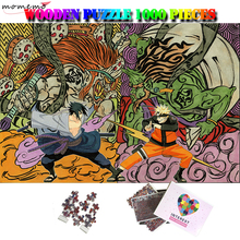 MOMEMO Sasuke and Naruto 1000 Pieces Wood Puzzle for Cartoon Enfant Wooden Toys Adults Kids Gifts