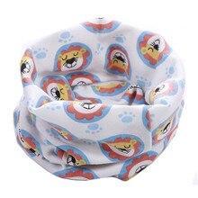 Весенне-осенний детский хлопковый шарф, зимний шарф для маленьких мальчиков и девочек, шарфы с героями мультфильмов, детский воротник с круглым вырезом, волшебный шейный платок