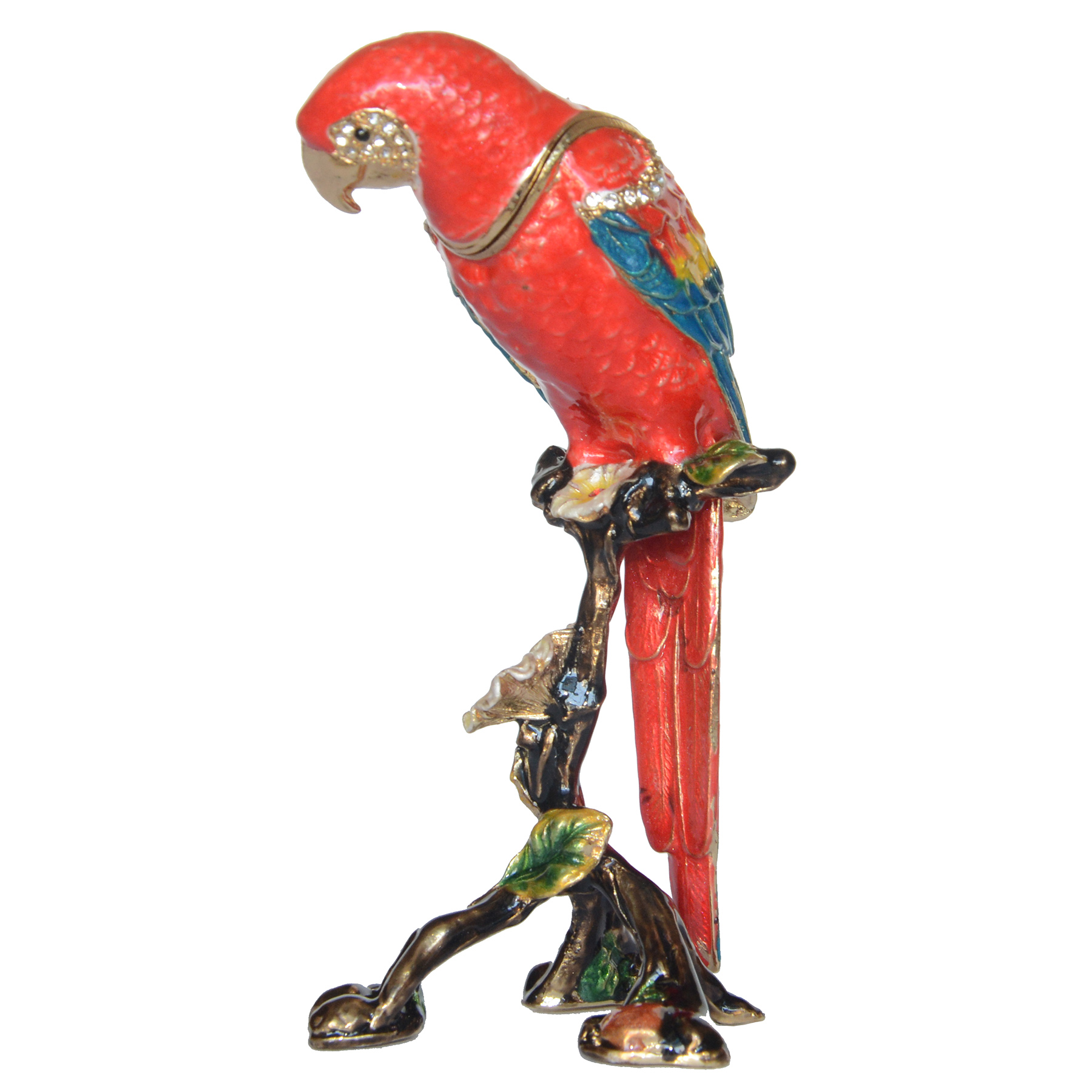Handpainted Red Parrot Figurine 6 Set Of 2 star