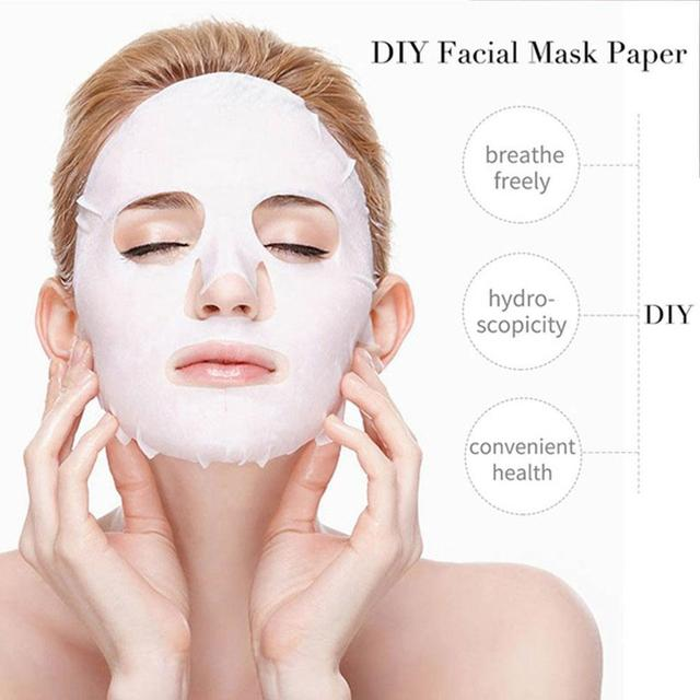 50pc/box Disposable Facial Masks Papers Compressed Face Mask Paper Natural Skin Care Wrapped Masks DIY Women Makeup Beauty Tool 2