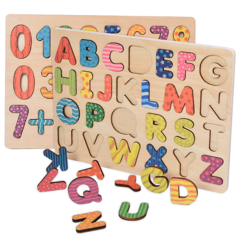 Wooden Toys Letter Alphabet Digital Jigsaw Puzzle Children Educational Early Learning Toys for Kids-in Puzzles from Toys \u0026 Hobbies on Aliexpress.com ...  sc 1 st  AliExpress.com & Wooden Toys Letter Alphabet Digital Jigsaw Puzzle Children ...