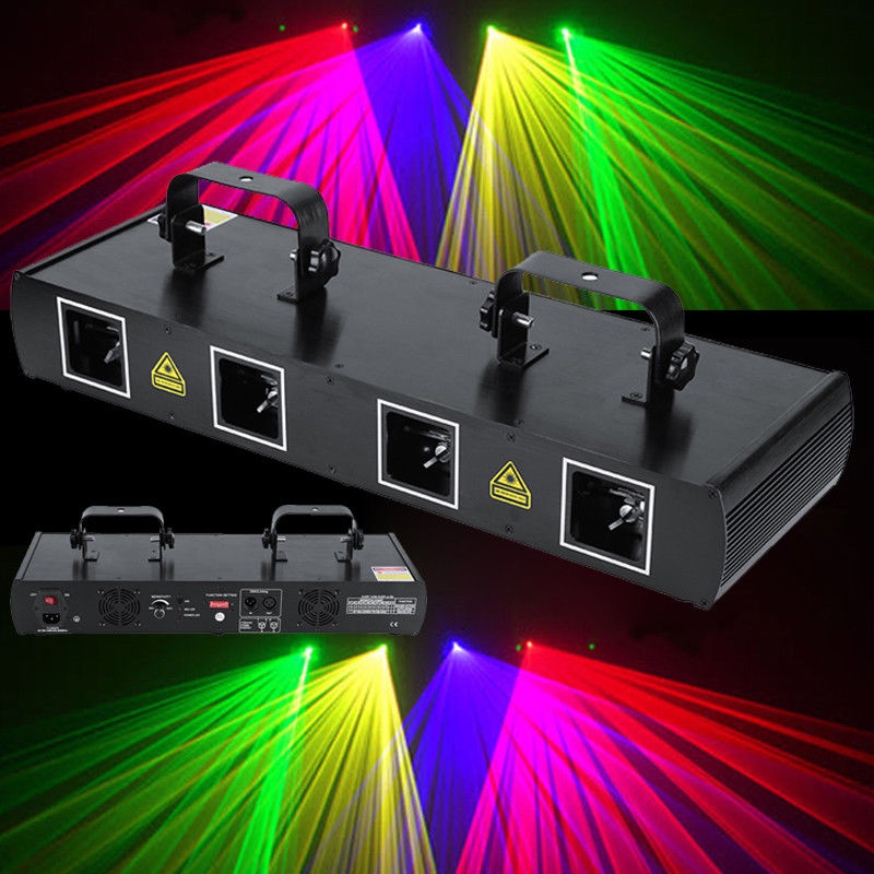 Free Shipping RG Stage Effect Laser Projector Dmx Control For Dj Disco Beam Wash Spot Patterns Light Work With Moving Head