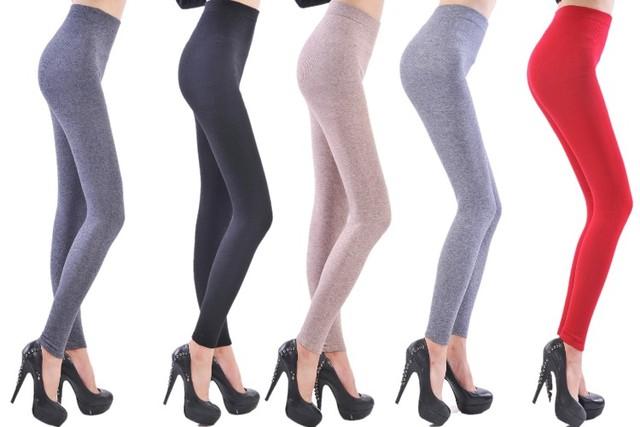 New Style Termal Cashmere Skinny Leggings Women's Underwear Wool Warm Pants