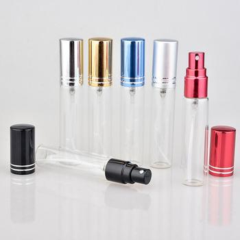 Wholesale 300pcs/Lot 10 ML Portable Colorful Glass Perfume Bottle With Atomizer, Empty Cosmetic Containers