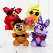 15cm FANF Plush Toys Five Nights At freddys Bear Fox Rabbit Stuffed Animals figure toy dolls Keychain Pendant(China)