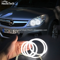 HochiTech WHITE 6000K CCFL Headlight Halo Angel Demon Eyes Kit Angel Eyes Light For Opel Vectra