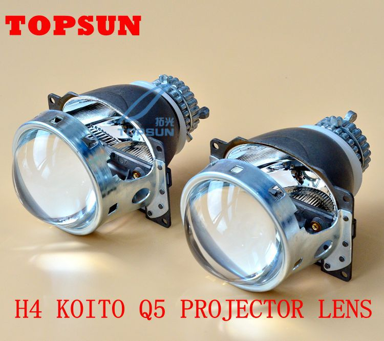 GZTOPHID  3 Inches Koito q5 H4 Bi-xenon Projector Lens for Car headlight using D2h xenon bulbs Quick Install, Free Shipping gztophid 3 inches koito q5 h4 bi xenon projector lens for car headlight using d2h xenon bulbs quick install free shipping