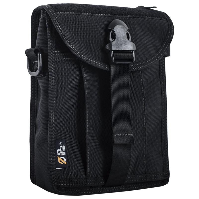 Sector Seven Men's 1000D Nylon Casual Briefcase Solid Men Tactical Handbags