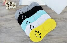 Free Shipping Women Candy Color Socks Emoji Smiling face Cartoon 100% Cotton cute Boat Breathable Casual Ladies Funny Sock S18