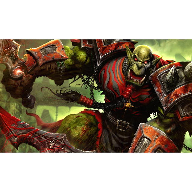 Best Quality 2mm Thick Table Pad WOW Orcs Playmat, Trading Cards Playmat  Board Games Can