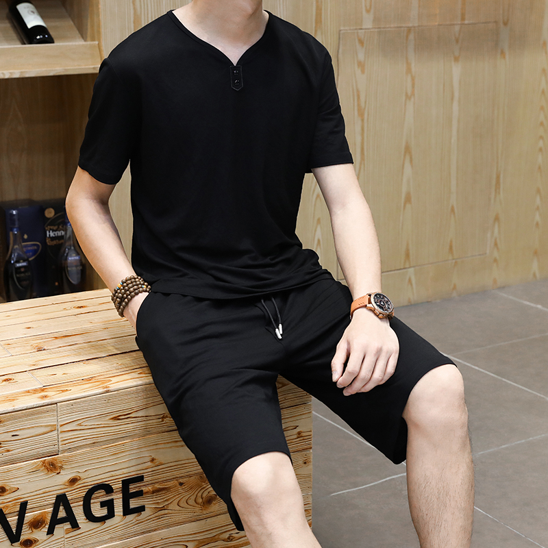 Alharbi NAD2 2019 Spring Quick Dry Clothing Suits Sport Short Sleeve and Short for Men s