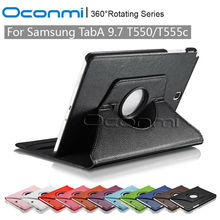 360 Rotating PU Leather case for Samsung Galaxy Tab A 9.7 with stand function SM-T550 SM-T555 Tablet Protective Shell Skin cover