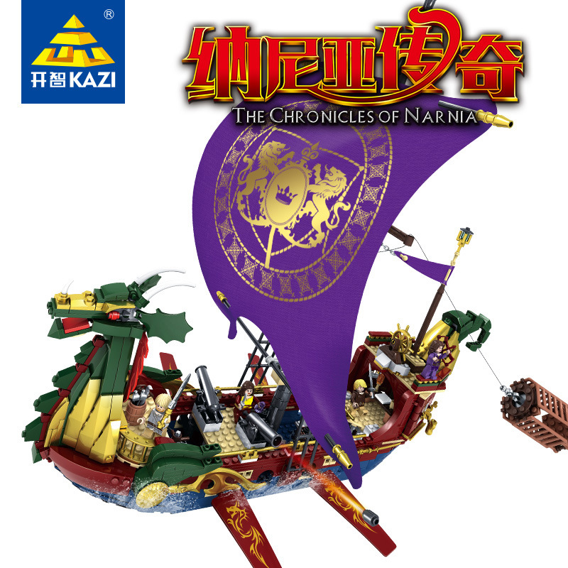 KAZI Models Building toy K87018 1299pcs Chronicles Narnia Blocks Toys Hobbies For Boys Girls Building Kits