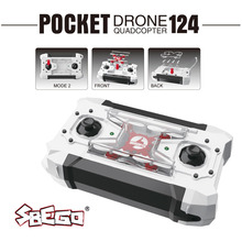 SBEGO FQ777-124 Mini Drone Micro Pocket 4CH 6Axis Gyro Switchable Controller RC Helicopter Kids Toys VS JJRC H37 H31 Quadcopter