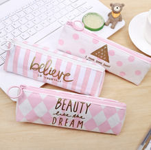 1 шт. прекрасный пенал кожаный розовый белый школьные принадлежности BTS канцелярские подарок школе милый пенал Pencilcase пенал сумка