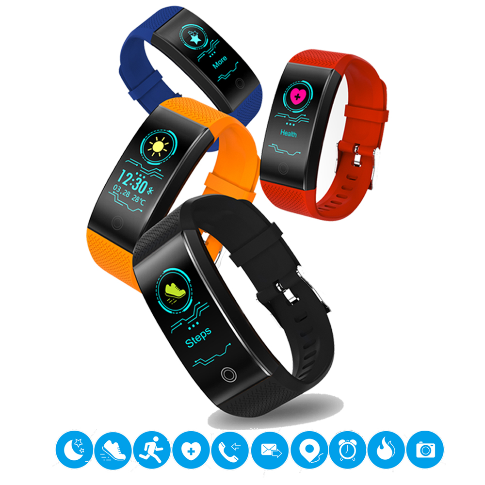 Digital Watches Smart Wristband Fitness Bracelet Big Touch Screen Oled Message Display Heart Rate Time Smartband Ip68 Waterproof Smart Watch